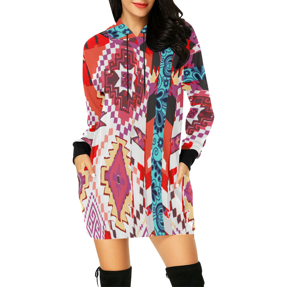 Attack of the Killer Kimono Hooded Dress