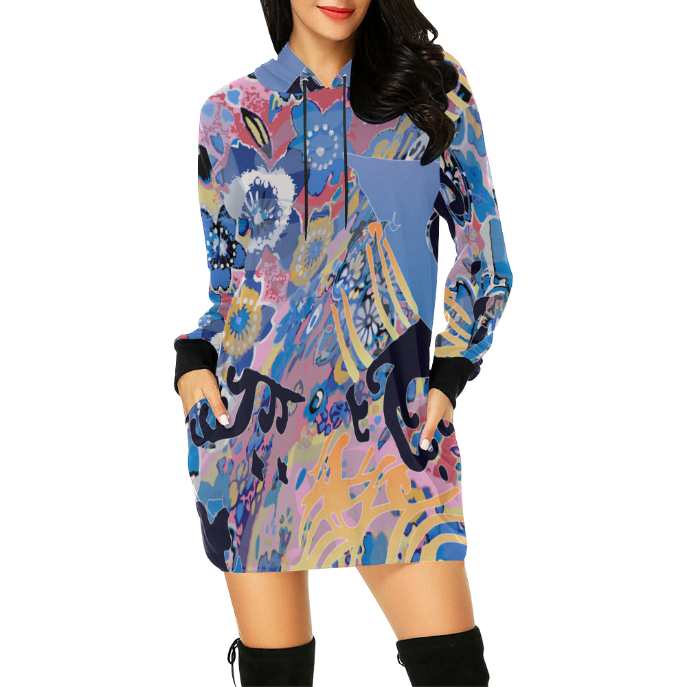 Lost in Translation Hooded Dress