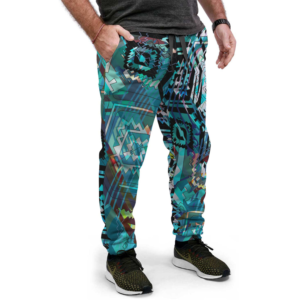 AZtech in Turquoise Joggers