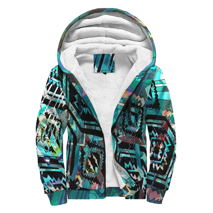 AZtech in Turquoise Sherpa Hoodie