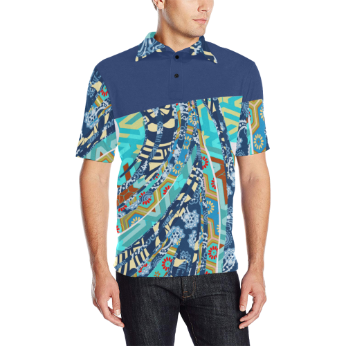 Angel Food Polo Men's All Over Print Polo Shirt (Model T55)