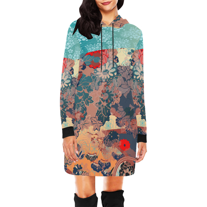 Floral Frenzy Hooded Dress