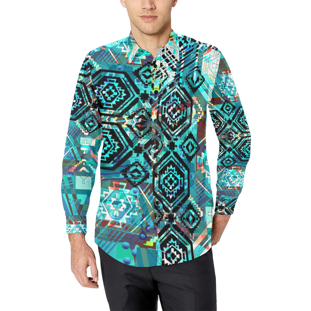 AZ Tech in Turquoise Casual Dress Shirt