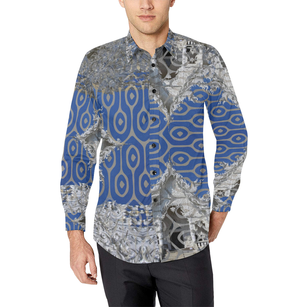 Dynasty in Blue Casual Dress Shirt