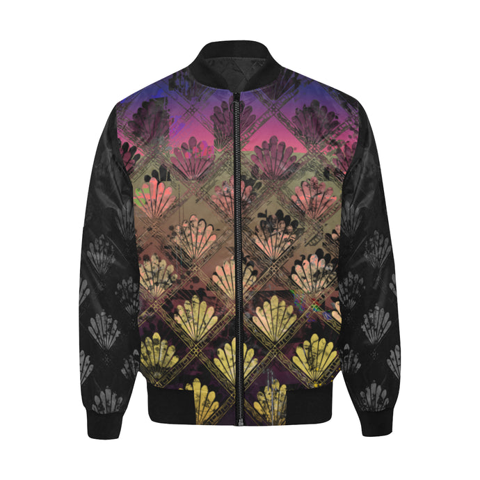 Guilded Lily in Black Quilted Bomber Jacket