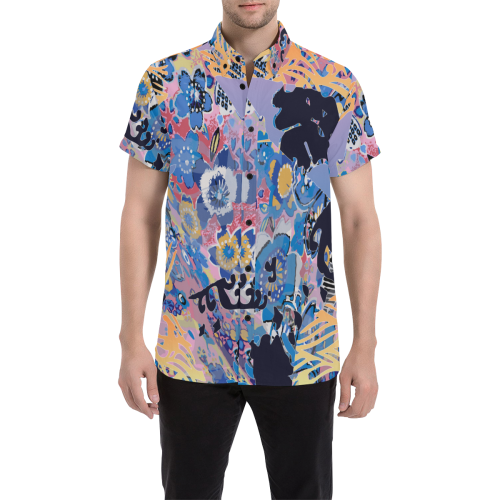Lost in Translation Short Sleeve Button Up
