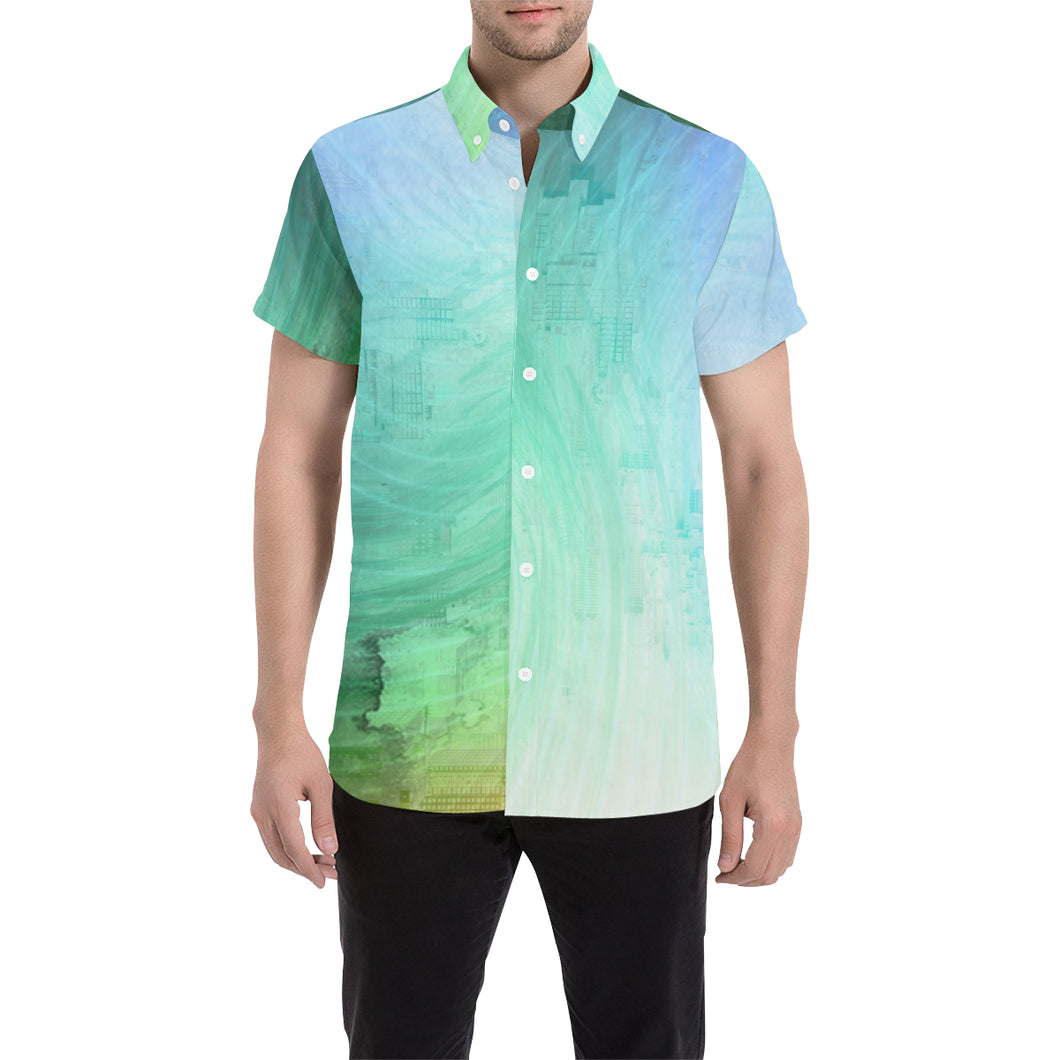 Asking In Return Short Sleeve Button Up Shirt