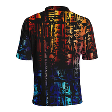 The Language Polo Men's All Over Print Polo Shirt (Model T55)