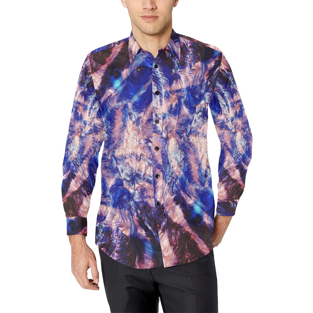 Tiger Burn Casual Dress Shirt