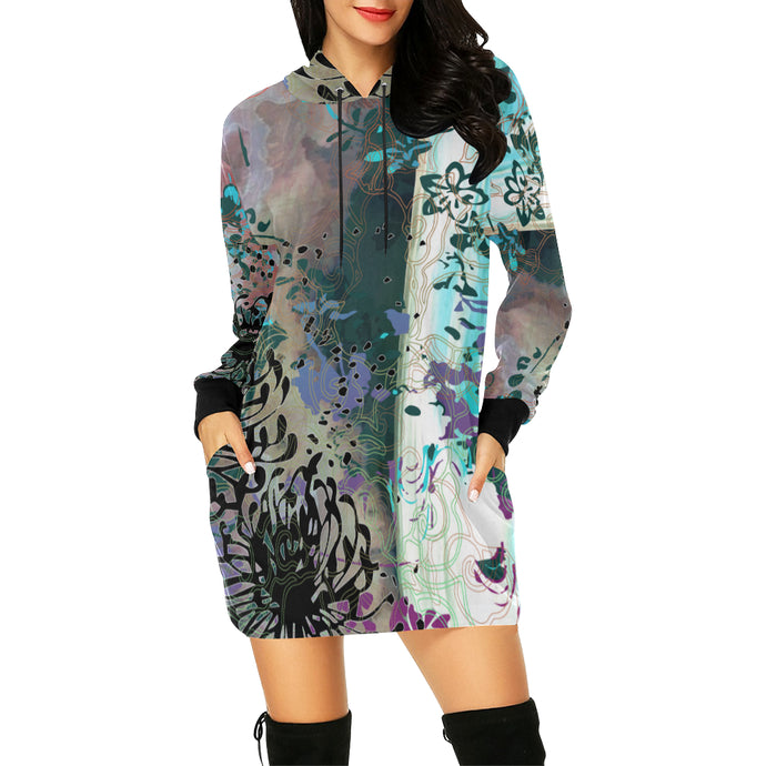 Trouble in Paradise Hooded Dress