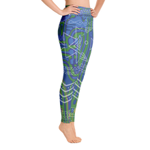 Aztech in Blue Leggings