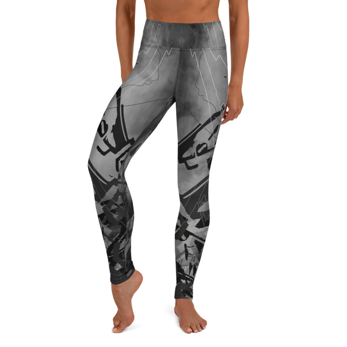 Time Stretch in Graphite Yoga Leggings