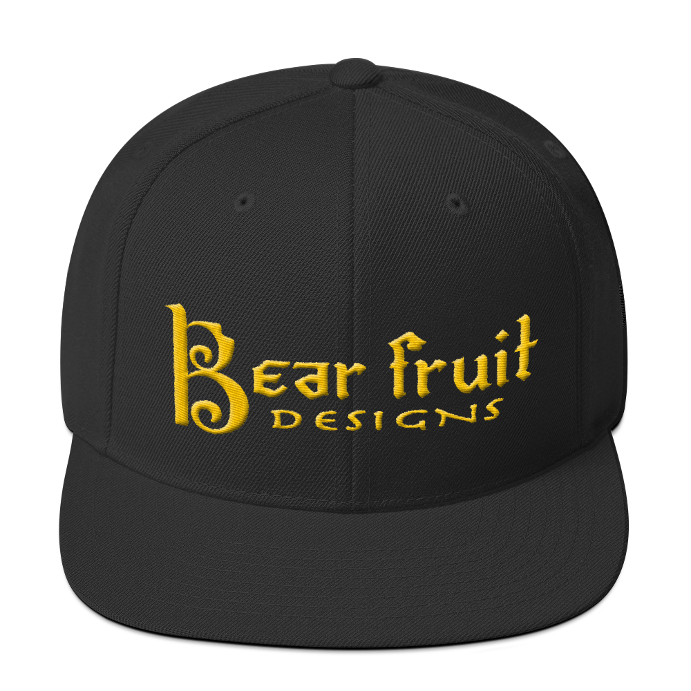 Gold Steez Bear Fruit Snapback Hat