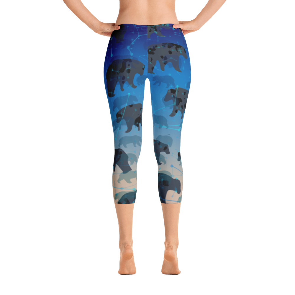 Chasing the Cold Tranquility Capri Leggings