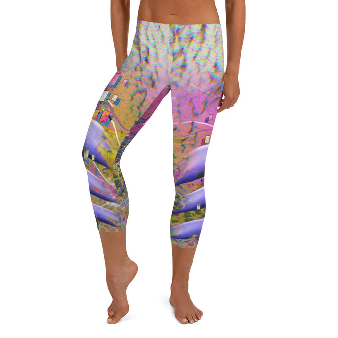 Smoking Cheshire Capri Leggings