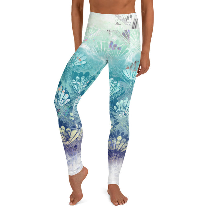 Gilded Lily in White Yoga Leggings