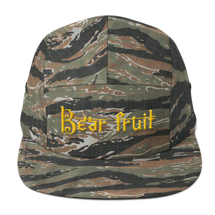Bear Fruit Five Panel in Tiger Camo