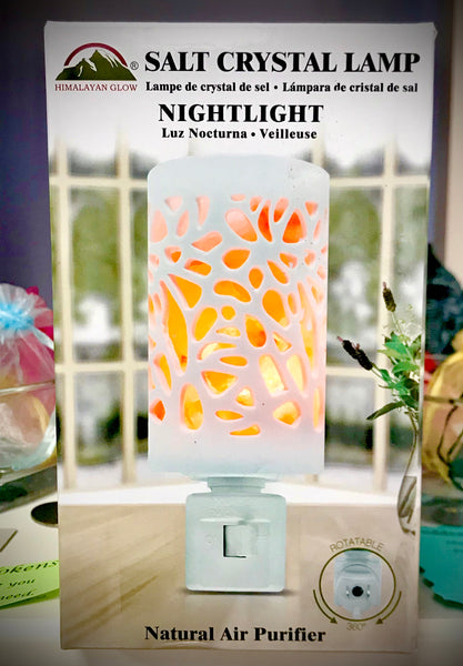 Himalayan Salt Crystal Night Light - Sunshine Organic Herbals LLC
