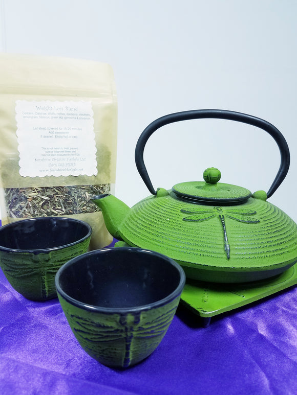 Cast Iron Teapot Set - Sunshine Organic Herbals LLC