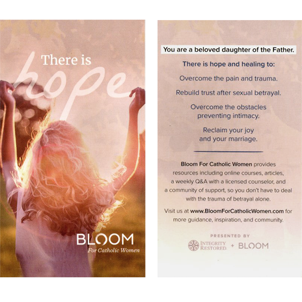 Bloom for Catholic Women Prayer Card 25-pack