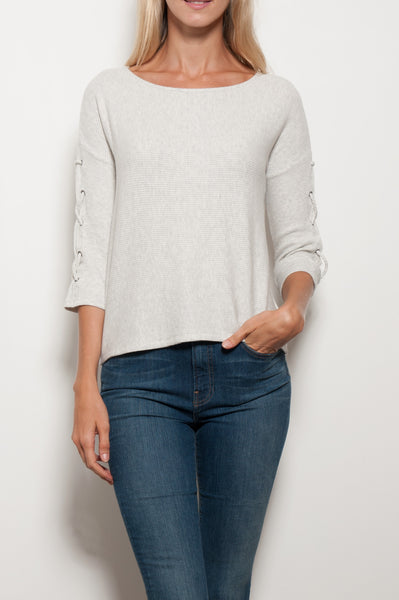 Cliona Lace Up Sleeve Top