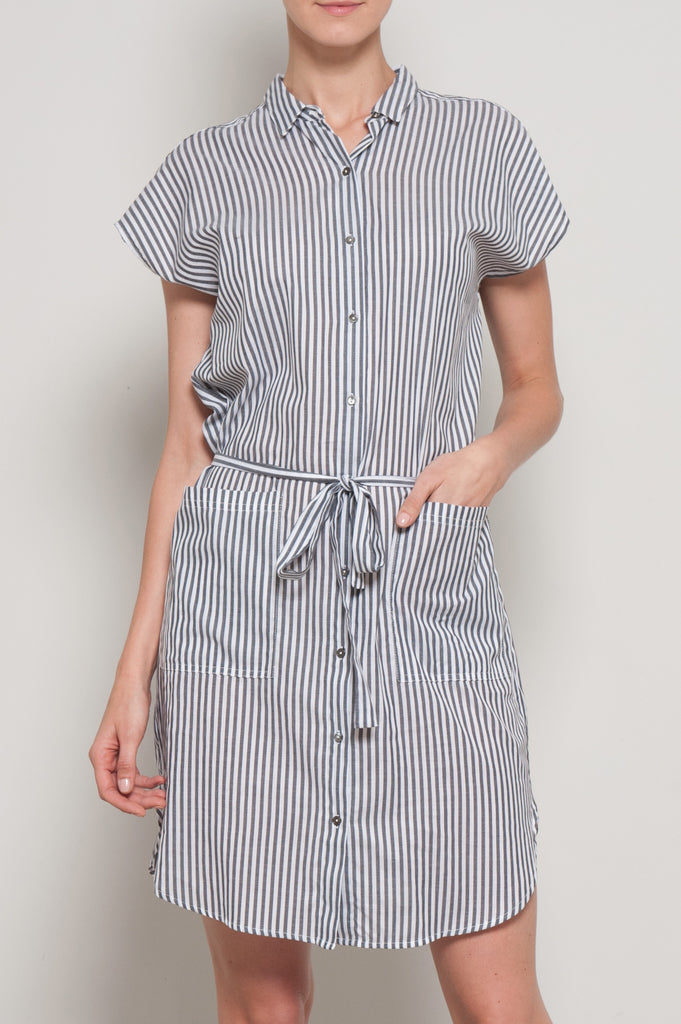 Sonay Striped Shirt Dress