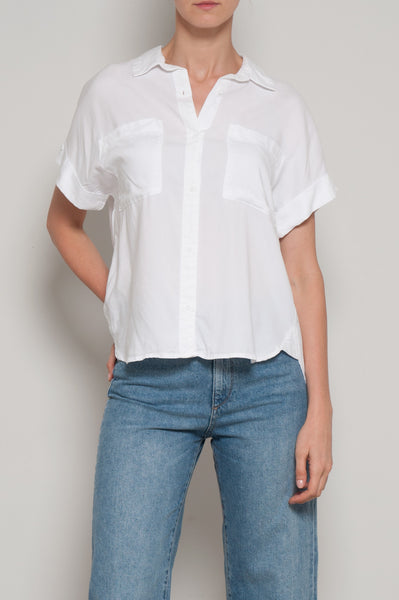 Rolled Short Sleeve Button Down