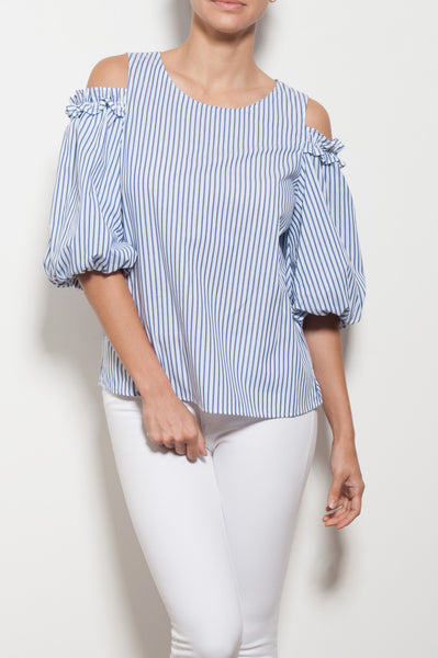 Bruna Cold Shoulder Blouse