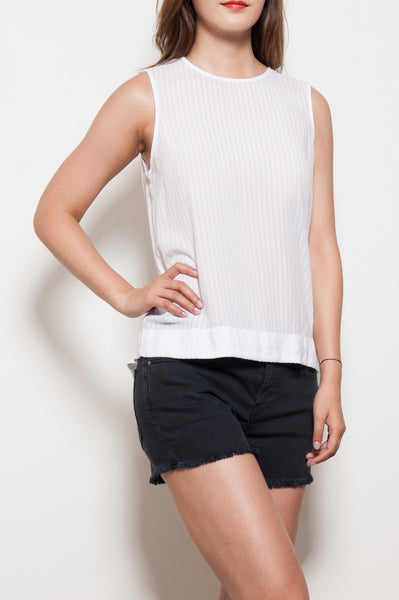 Button Shoulder Tank