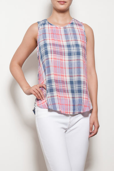 Drop Armhole Button Back Tank