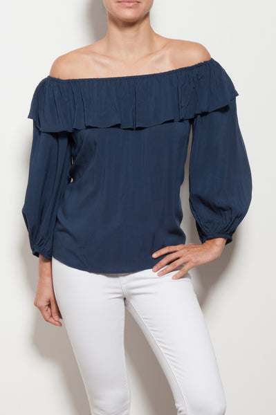 Ibby Ruffle Off Shoulder Top