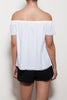 Fray Hem Off Shoulder Top