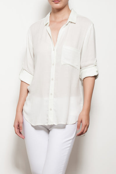 Long Sleeve Shirt Tail Button Down