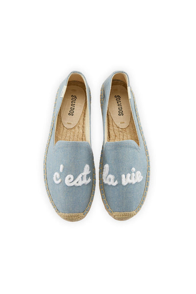 C'est La Vie Platform Smoking Slipper