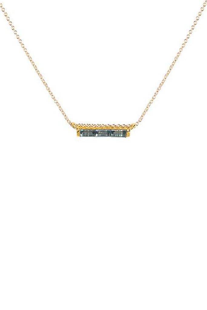 London Blue Topaz Channel Necklace