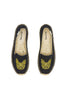 Frenchie Embroidered Platform Slipper