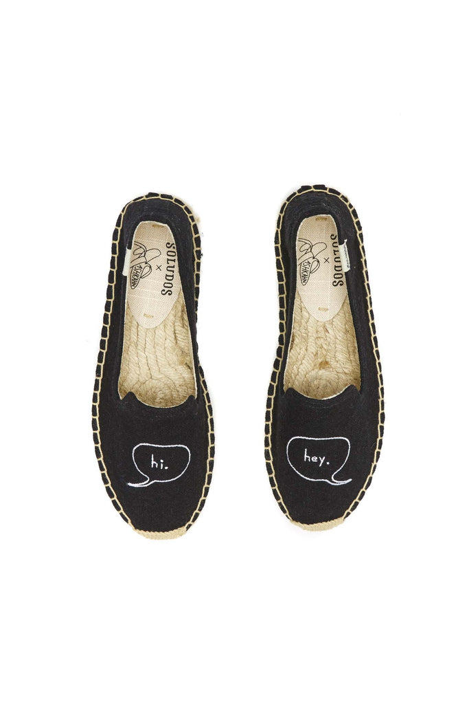 ASHKAHN Hi/Hey Embroidered Platform Slipper