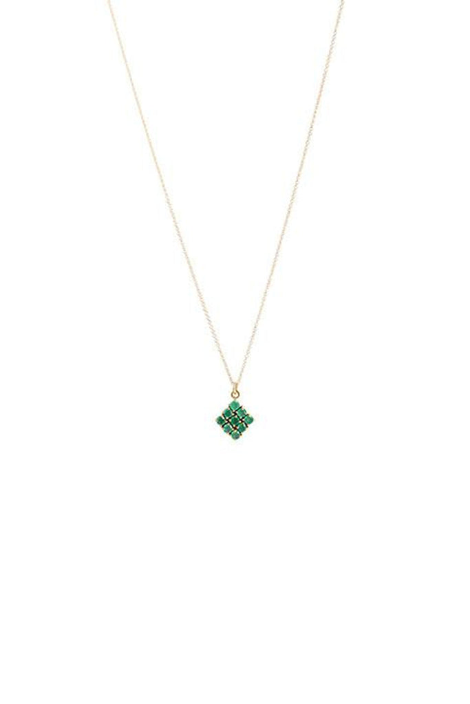 Honeycomb Emerald Green Onyx Necklace