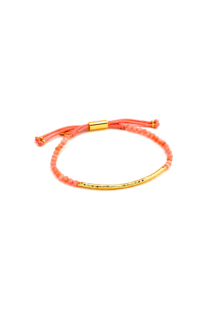 Power Gemstone Pink Coral Bracelet For Harmony
