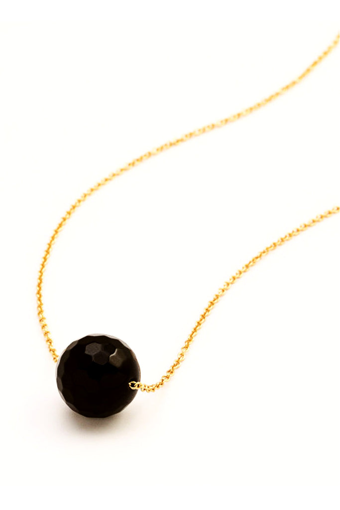 Gorjana Power Gemstone Black Onyx Bead Necklace At7LpMTq