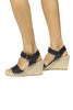 Woven Leather Wedge Sandal