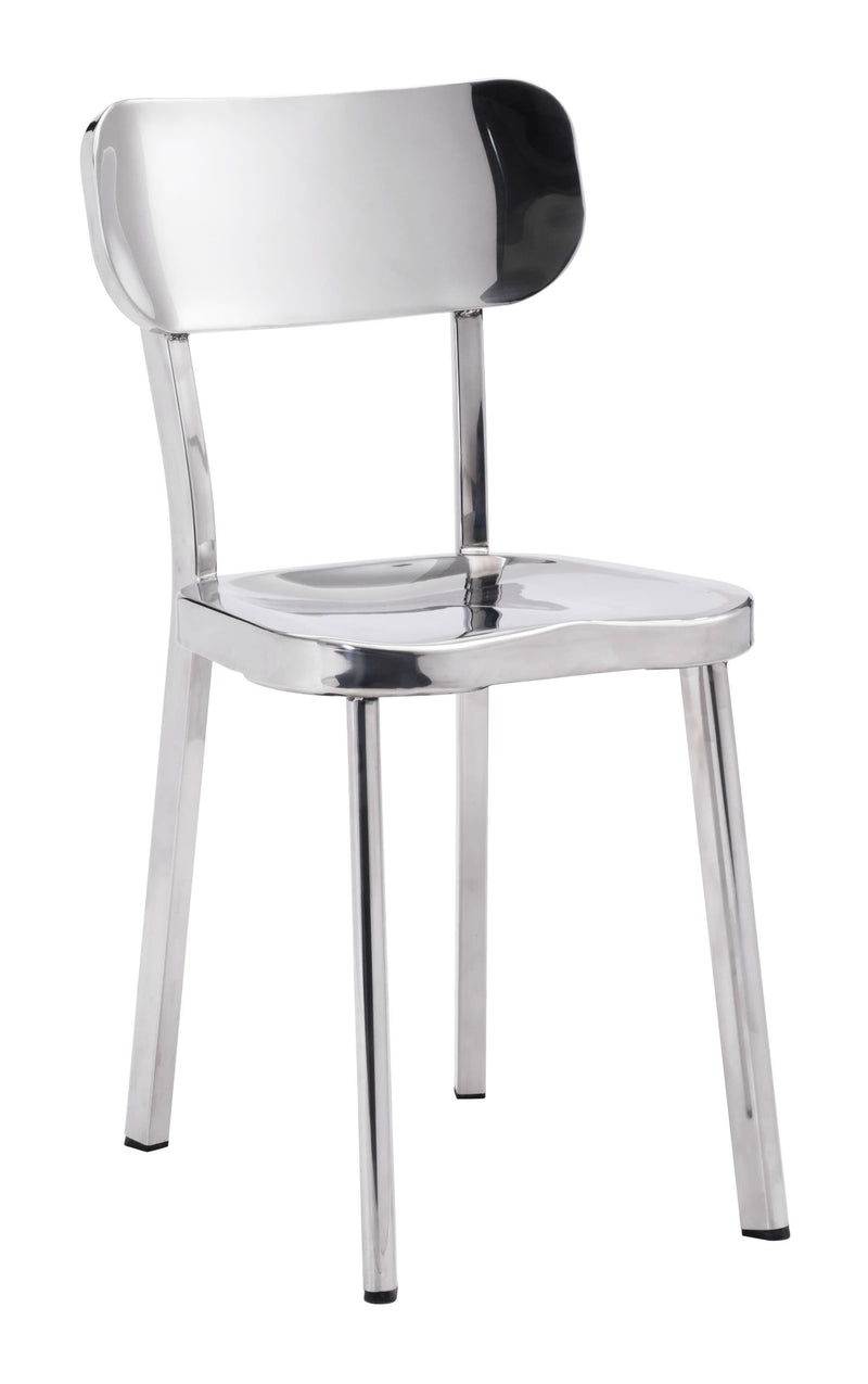 Winter Dining Chair Polished Ss (Set of 2)