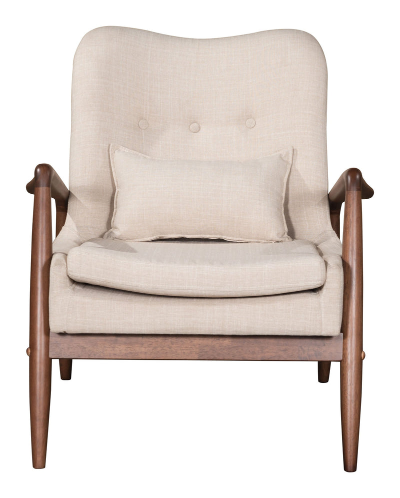 Bully Lounge Chair & Ottoman Beige