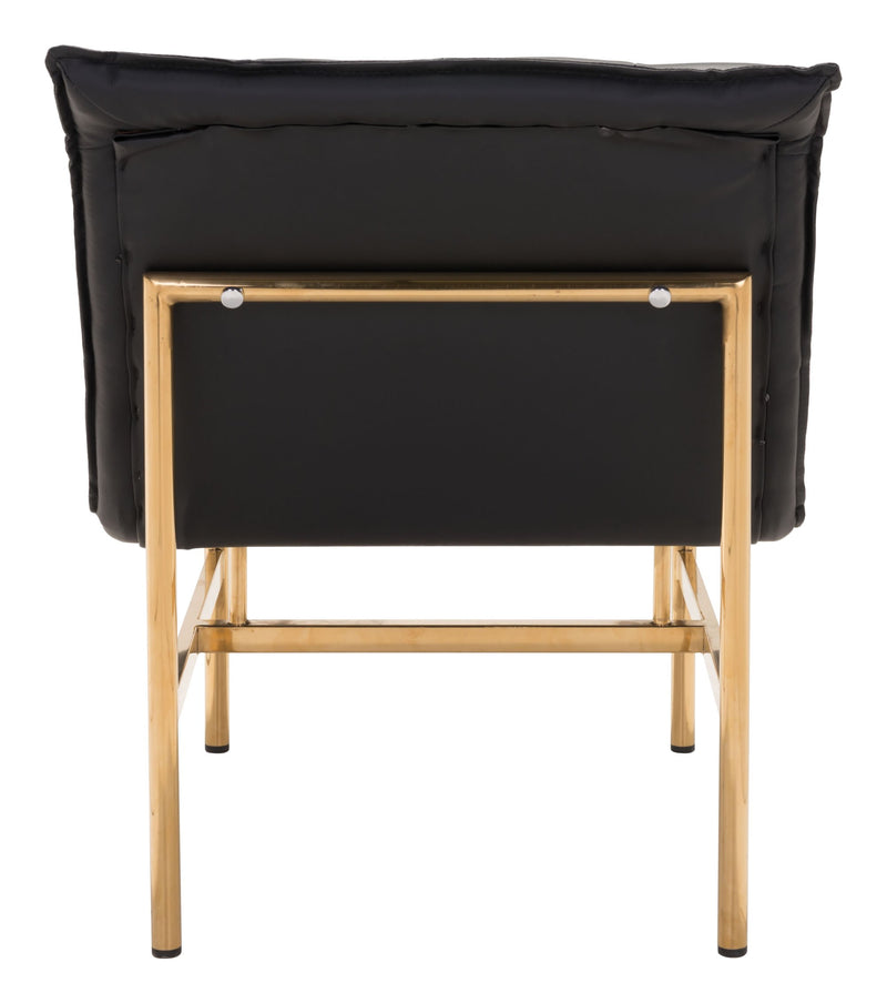 Slate Chair Black & Gold