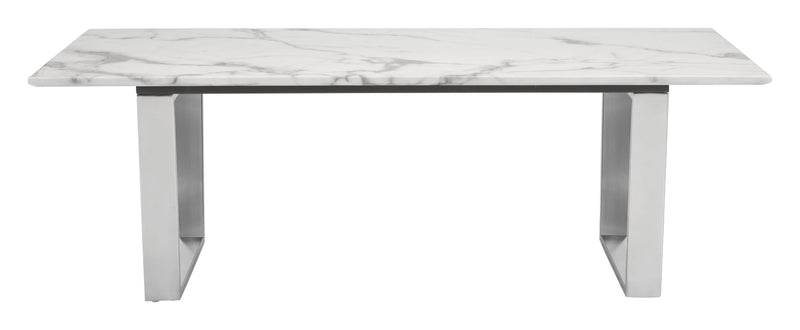 Atlas Coffee Table Stone & Brushed Ss