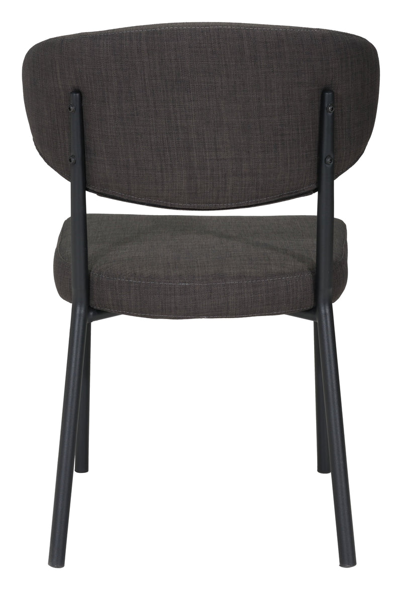 Pontus Dining Chair Charcoal Gray (Set of 2)
