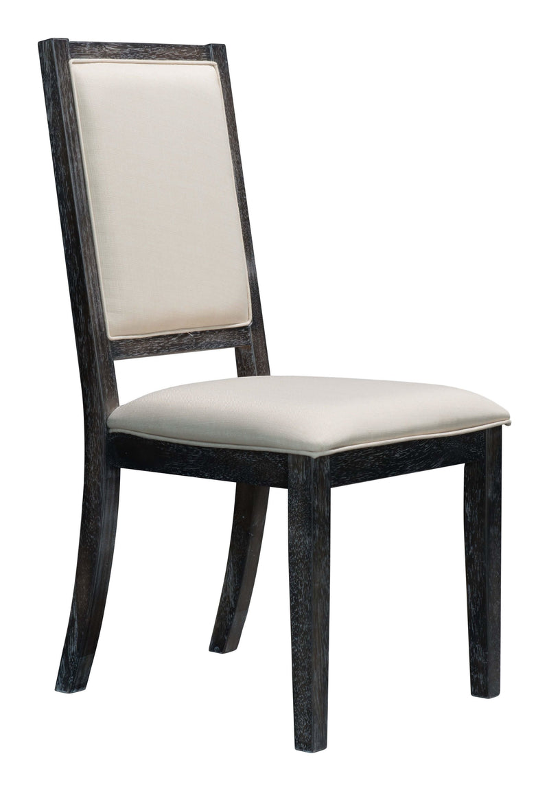 Skyline Dining Chair Gray & Beige (Set of 2)