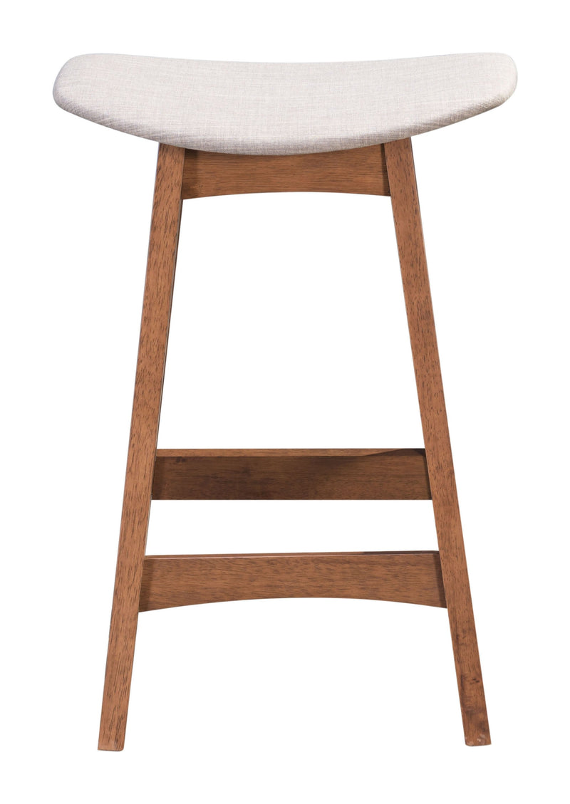 Allen Counter Stool Dove Gray & Walnut (Set of 2)