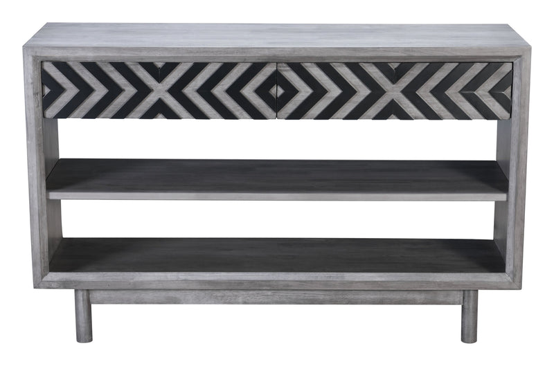 Raven Console Table Old Gray