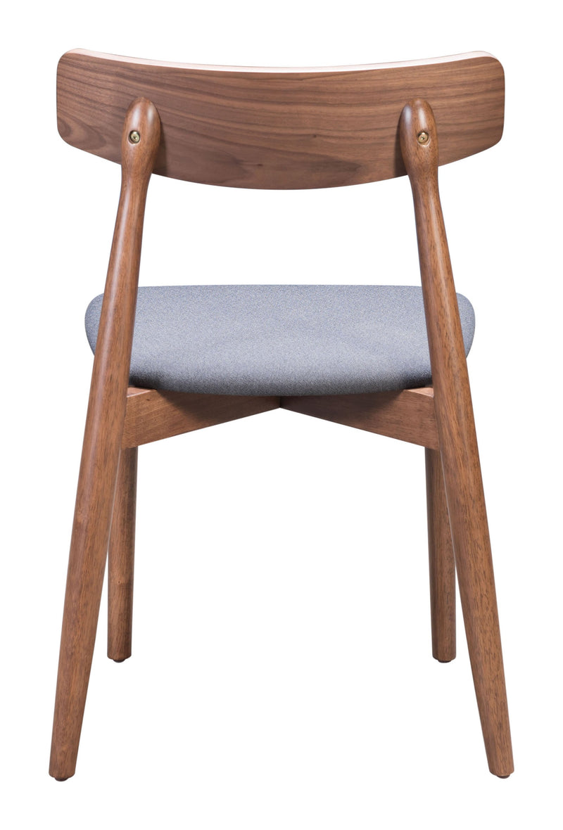 Newman Dining Chair Walnut & Dark Gray (Set of 2)